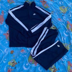Nike Sportswear Striped Embroidered Sweatsuit